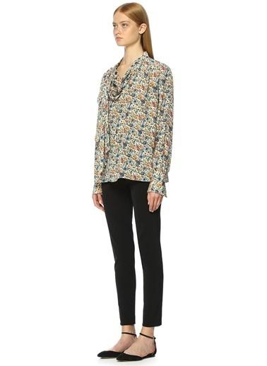 Joseph Kuşak Bağlamalı Çiçekli Bluz Renkli